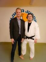 På bilden jag och Färgelandas kommunalråd Tobbe Bernhardsson.