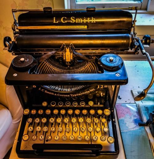 En LC Smith från min brorson Victors skrivmaskinsamling.