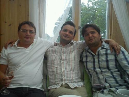 På bilden Ronny, Sigge och Tommy Widekärr