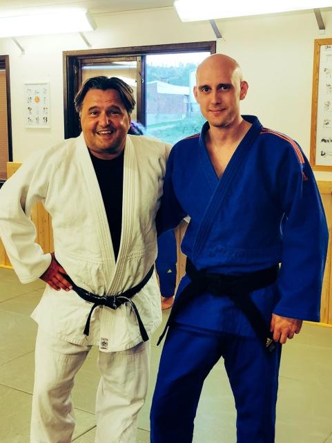 Jag tillsammans med min tränare och vän David