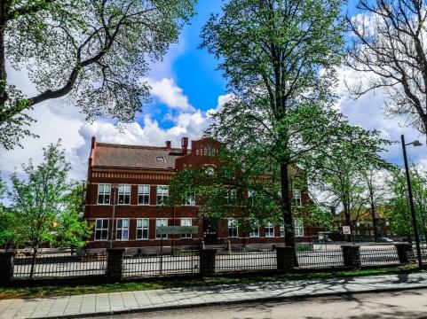 Den gamla centralskolan från tidigt 1900-tal.