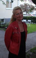 Eva-Karin Berglund. Författare och förläggare, ägare av Ebes förlag och Lyacon för egenutgivare.