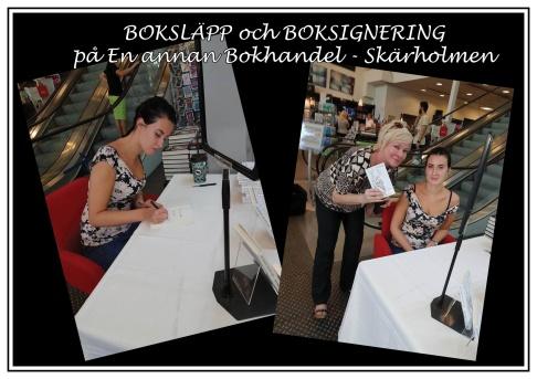 """Anicia Sundström Ericsson genomför sin första signering vid boksläpp av """"Skammen är inte din"""" i En annan bokhandel - Skärholmen."""