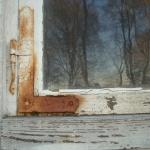 Fönster med beslag innan renovering