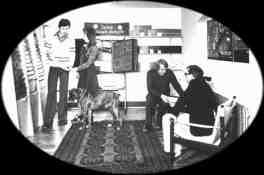 Även boxern York ville vara med på bild och han blev med tiden också en välkänd hund i Lund.