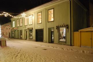 Föreningens hus i vinterskrud