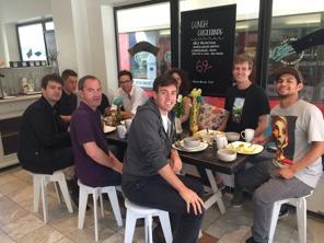 Lots of nationalities for breakfast