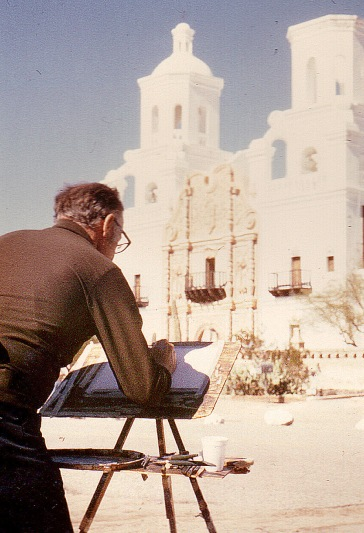 Missionskyrkan vid San Xavier del Bac utanför Tucson, AZ.