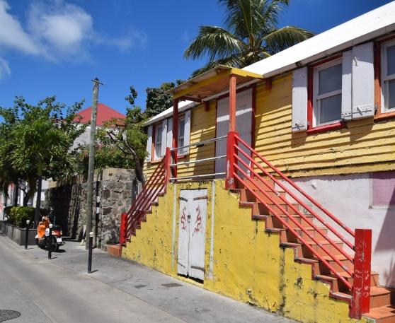 Den gamla svenska lärarebostaden i Gustavia på St Barth.