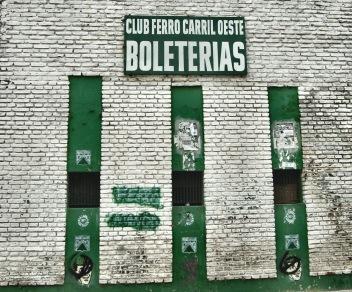 Biljettluckor hos Club Ferro Carril Oeste, Buenos Aires.