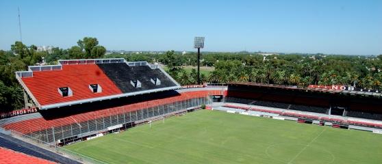 Estadio Marcelo Bielsa, Rosario, Argentina och läktaren som heter Tribuna Diego Maradona.