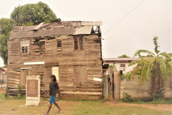 Gatuvy Paramaribo, Surinam, februari 2020.