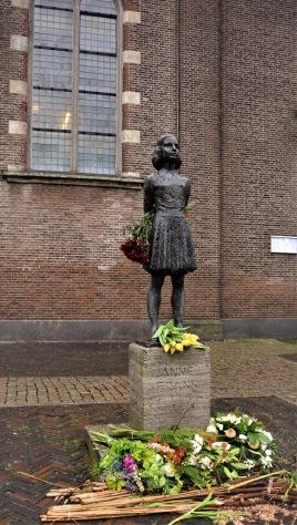 En kavat Anne Frank i Utrecht.