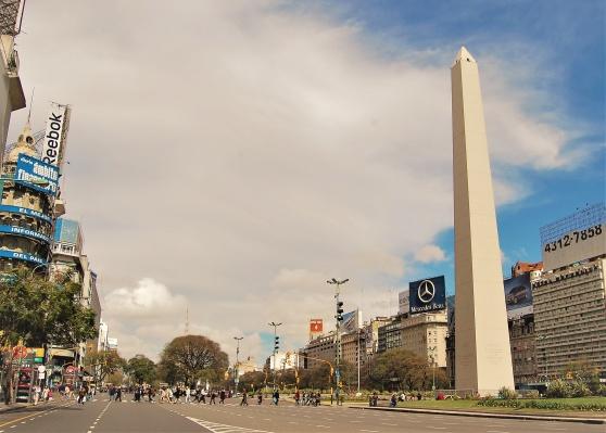 Avenida 9 de julio, Buenos Aires 2009.