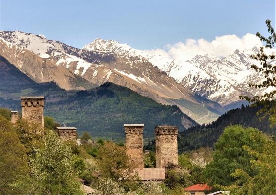 Mestia i Svanetien med de hemliga tornen.