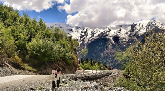 Vägen upp till Mestia i Svanetien var vacker som ett tusenbitars träpussel.