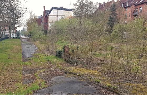 ...och så här ser det ut just nu. Porten till underjorden mitt i bild på höger sida av Frommestrasse.