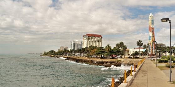 Malecón, strandpromenaden i Santo Domingo.