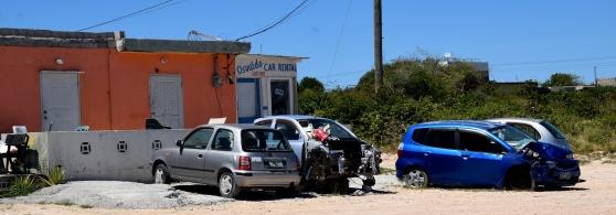 Osvaldos Car Rental på Anguilla. En bild som aldrig hamnar i turistbroschyrer.