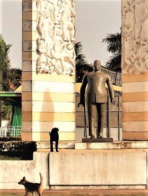 Félix Éboué i Parce des Palmistes, Cayenne.