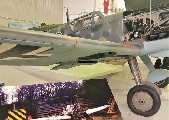 Varken Spitfire eller Mustang, men en renoverad Messerschmitt finns på flygmuseet i Sola.