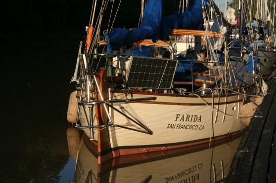 Långfärdsbåt där alla långseglare samlas - i Söderköping, Göta Kanal. Klicka för att förstora bilden.
