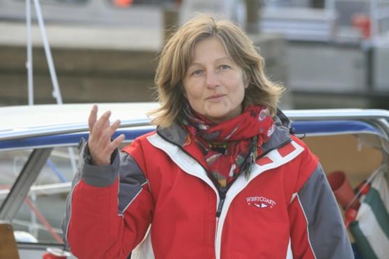 Linda Lindenau. Tuff seglare och bra berättare.