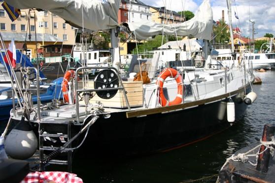 Per och Lisas Stålsegelbåt med vilken de gjort ett flertal fina resor i västerled.