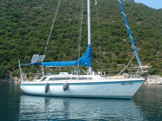 Joachim Neves båt - en Gib Sea. Inköpt och stationerad i Medelhavet, Grekland.