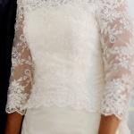 Brudklänning med spetssläp framifrån