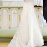 Brudklänning med spetssläp hela