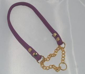 Halvstryp soft, rundsytt - Halvstryp lila mässing, 10 mm, ange längd