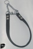 Halvstryp, valkband svart - Halvstryp, valkband 45 cm, kedjeöppn ca 10 cm, förnicklad