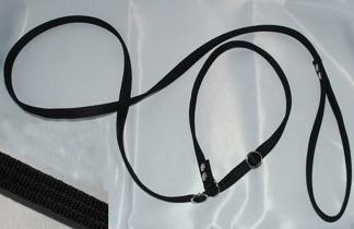 Retrieverkoppel ställbart, svart - Retrieverkoppel ställbart 180 cm