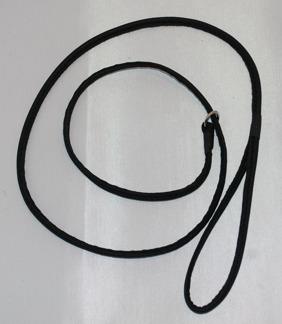 Utställningskoppel i skinn m kedja - Utställningskoppel i svart skinn, förnicklad kedja