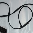 Retrieverkoppel ställbart, svart