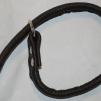 Rundsytt retrieverkoppel - Mörkbrun 99013 Mässing 14 mm