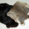 Kanindummies 1,5 kg med kardborrband - Kaninskinn