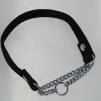Halvstryp, valkband svart - Halvstryp, valkband 25 cm, kedjeöppn ca 8 cm, mässing