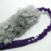 Fårskinnsleksak expander 17x6 - Fårskinnsleksak expander 17x6 grå lila handtag