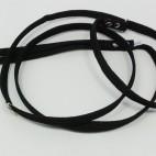 Retrieverkoppel , svart