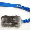 Träningsleksak Nova kanin expander - Träningsleksak Nova kaninskinn blå handtag