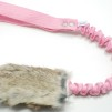 Träningsleksak Nova kanin expander - Träningsleksak Nova kaninskinn rosa handtag