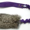Träningsleksak Nova kanin expander - Träningsleksak Nova kaninskinn lila handtag