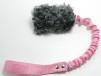 Fårskinnsleksak expander 10x6 m PIP - Fårskinnsleksak expander 10x6 grå pip rosa handtag