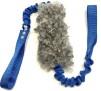 Fårskinnsleksak IVER dubbel expander 17x6 - Fårskinnsleksak Iver dubbelexpander 17x6 grå blå handtag