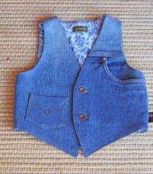 Jeansväst, blå, stl. 86