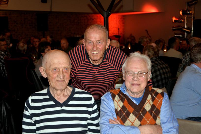 Klubbens seniorer fr v tidigare sekreteraren och hedersledamoten Alf Westman, Boden, 88 år, samt Östen Lindvall, Gammelstad och Leif Classon, Råneå, båda 83 år.