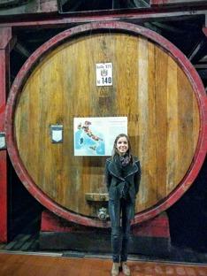 Ekfaten på vingårdarna lagrar viner av högsta klass. Det på bilden rymmer 1400 liter.
