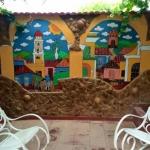 En vägg på vårt Casa i Trinidad